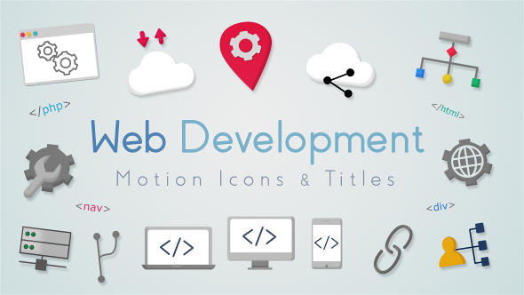 VideoHive Web Development Motion Icons & Titles 21139889