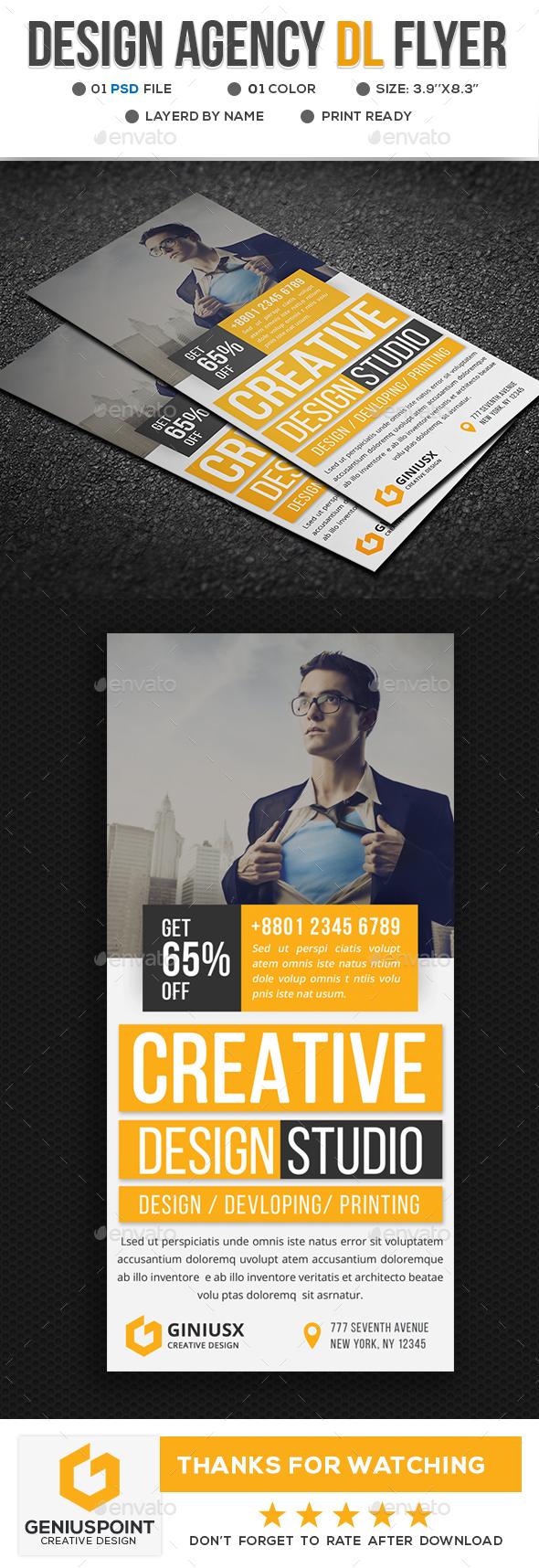 Design Agency DL Flyer - Flyers Print Templates
