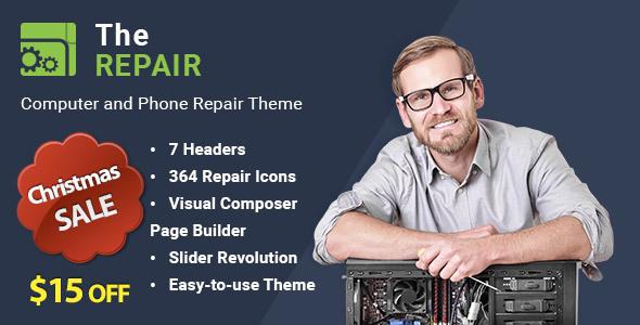 The Repair - Computer and Electronics Repair WordPress Theme - Technology WordPress
