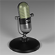 Old school microphone - 3DOcean Item for Sale