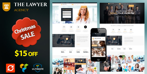 The Lawyer - Attorney, Lawyer & Law Firm WordPress Theme - Business Corporate