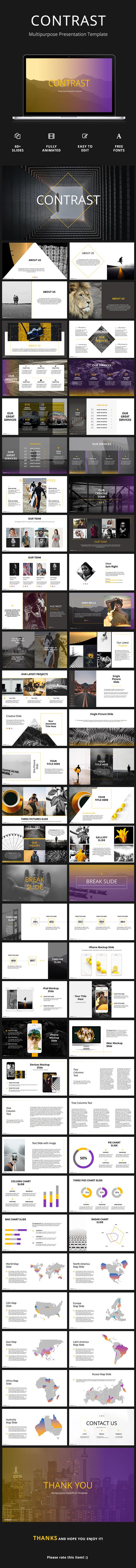 Contrast - Creative Google Slides Template - Google Slides Presentation Templates