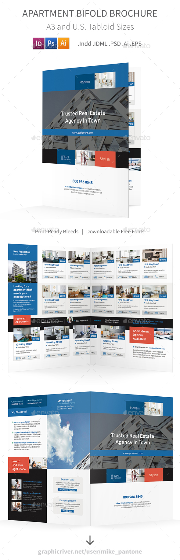 GraphicRiver Apartment For Rent Bifold Halffold Brochure 3 21140358