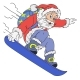 Cheerful Santa Claus Cartoon