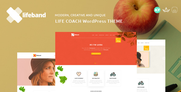 ThemeForest Lifeband Life Coach WordPress Theme 20905146