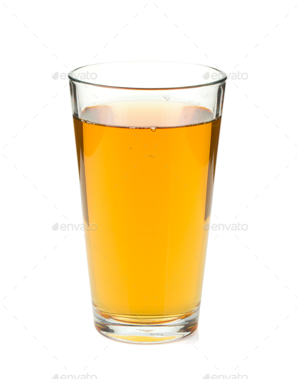 Apple juice in a glass - Stock Photo - Images