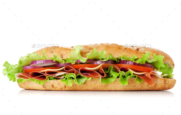 Long sandwich - Stock Photo - Images