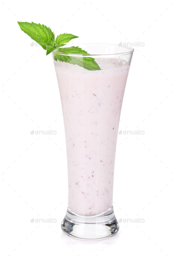Cherry milk smoothie - Stock Photo - Images