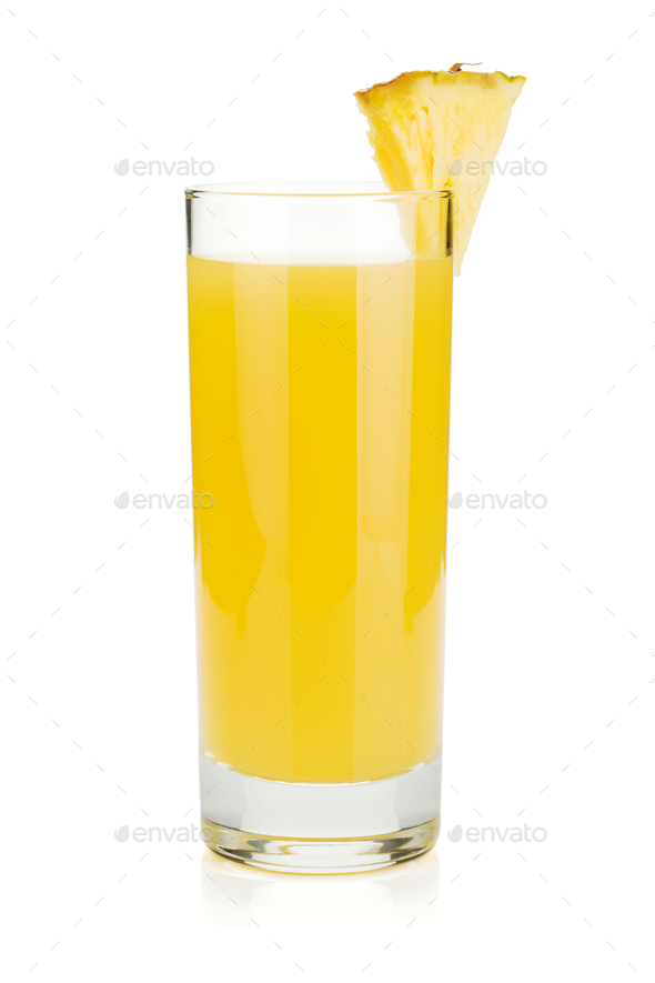 Pineapple juice in a glass - Stock Photo - Images