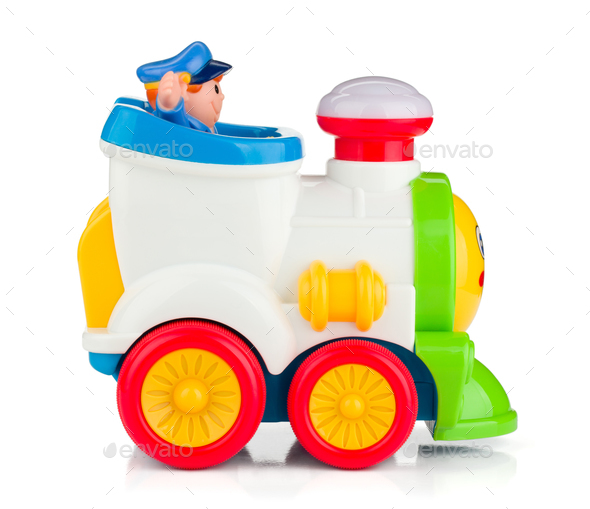 Train baby toy - Stock Photo - Images