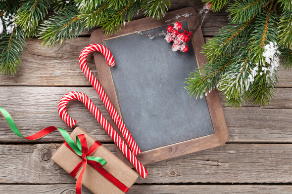 Christmas chalkboard for your greetings - Stock Photo - Images