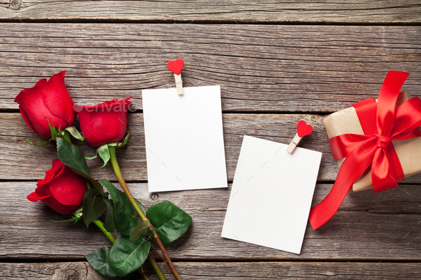 Valentines day photo frames - Stock Photo - Images