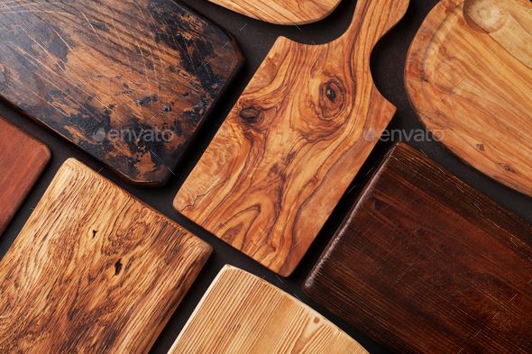 Various cutting boards - Stock Photo - Images