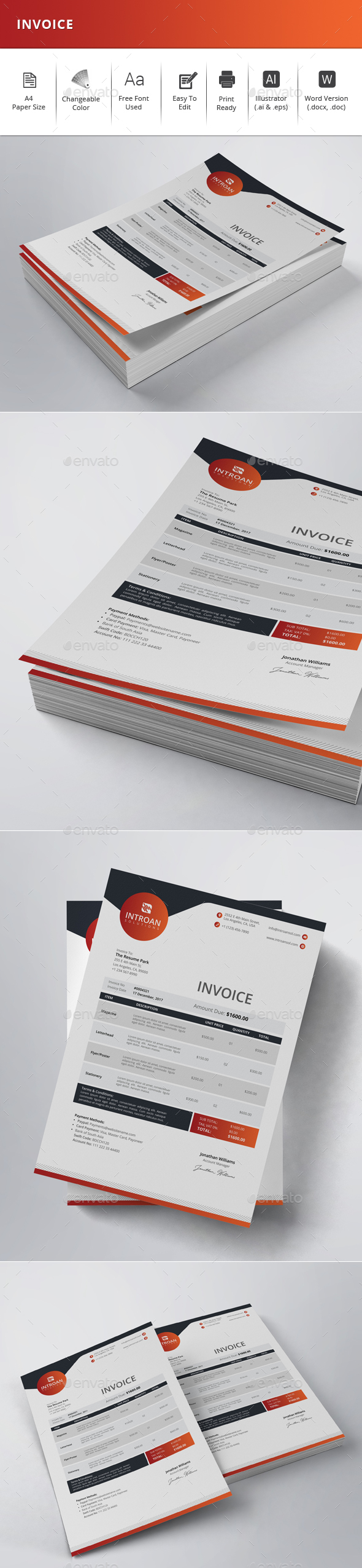 GraphicRiver Invoice 21140598