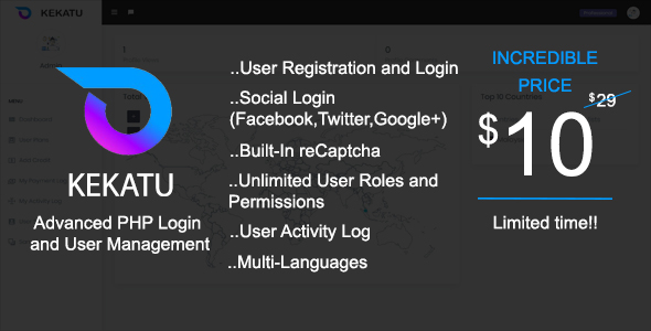 Kekatu - Advanced PHP Login and User Management Free Download | Nulled