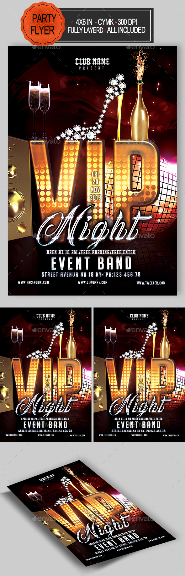 GraphicRiver VIP Party Flyer 21140770