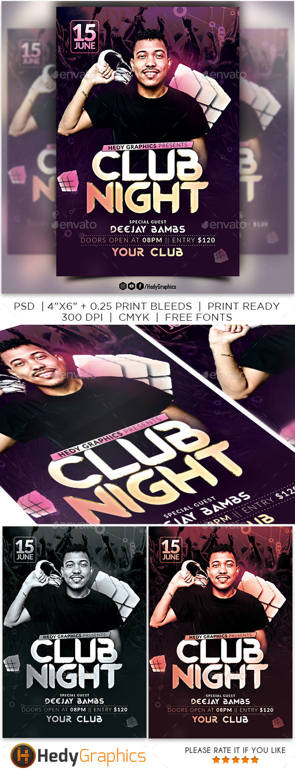 GraphicRiver Club Night Flyer 21140771