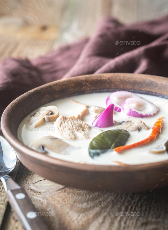 Tom Kha Kai - Stock Photo - Images