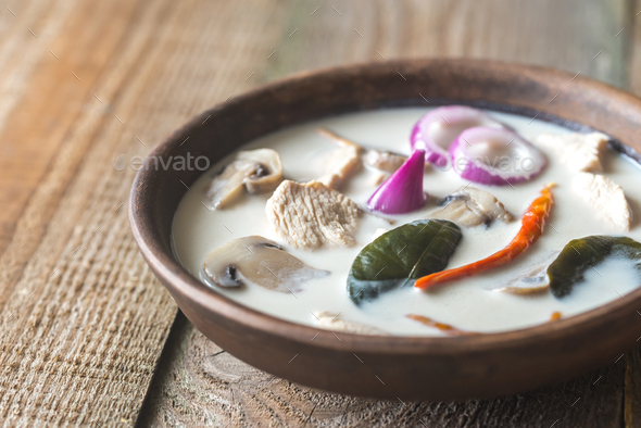 Tom Kha Kai - Stock Photo - Images