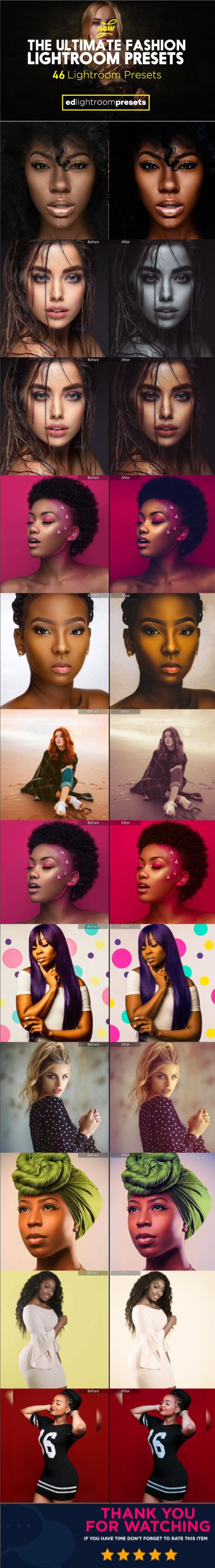 The Ultimate Fashion Magazine Lightroom Presets Collection - Vol 1 - Portrait Lightroom Presets