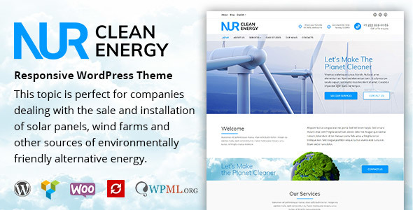 Download Nur - Alternative & Renewable Energy WordPress Theme            nulled nulled version