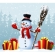 Snowman with Christmas Presents - GraphicRiver Item for Sale