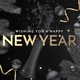 Happy New Year FB Cover with Animated GIF + Profile Template - GraphicRiver Item for Sale
