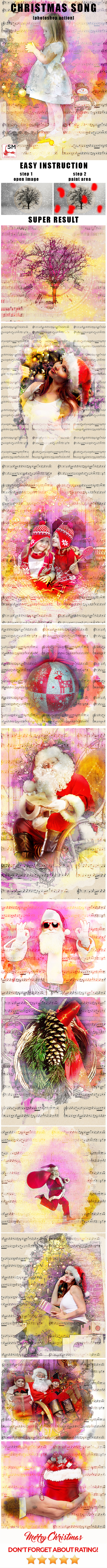 Christmas Song Photoshop Action - Photo Effects Actions