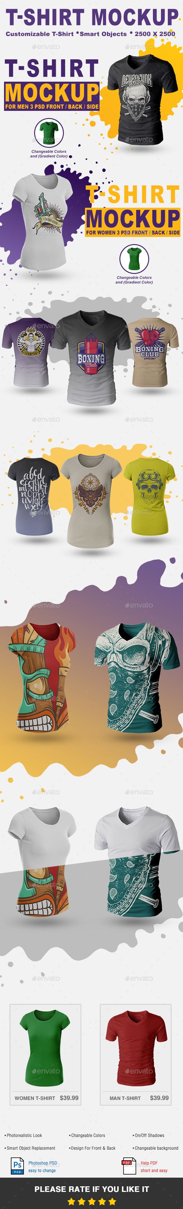 GraphicRiver T-Shirt Mock-Up Vol.2 21141673