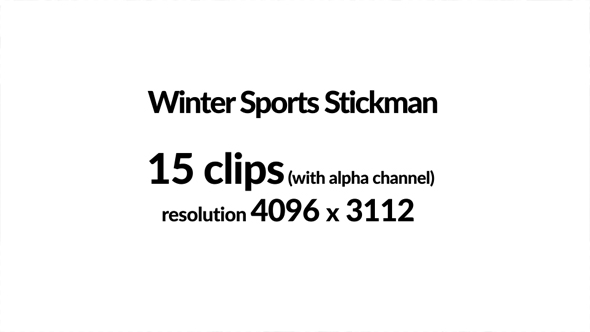 VideoHive Winter Sports Stickman 21141724
