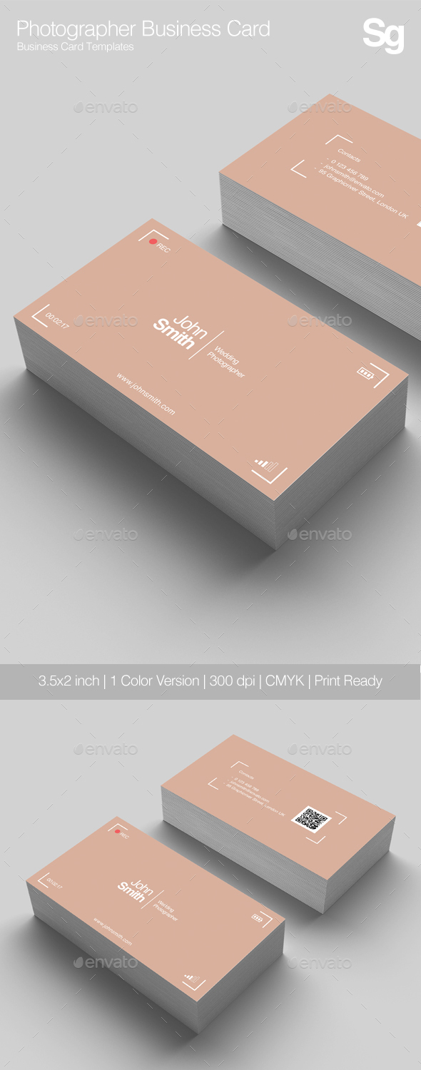 GraphicRiver Photographer Business Card 21141800