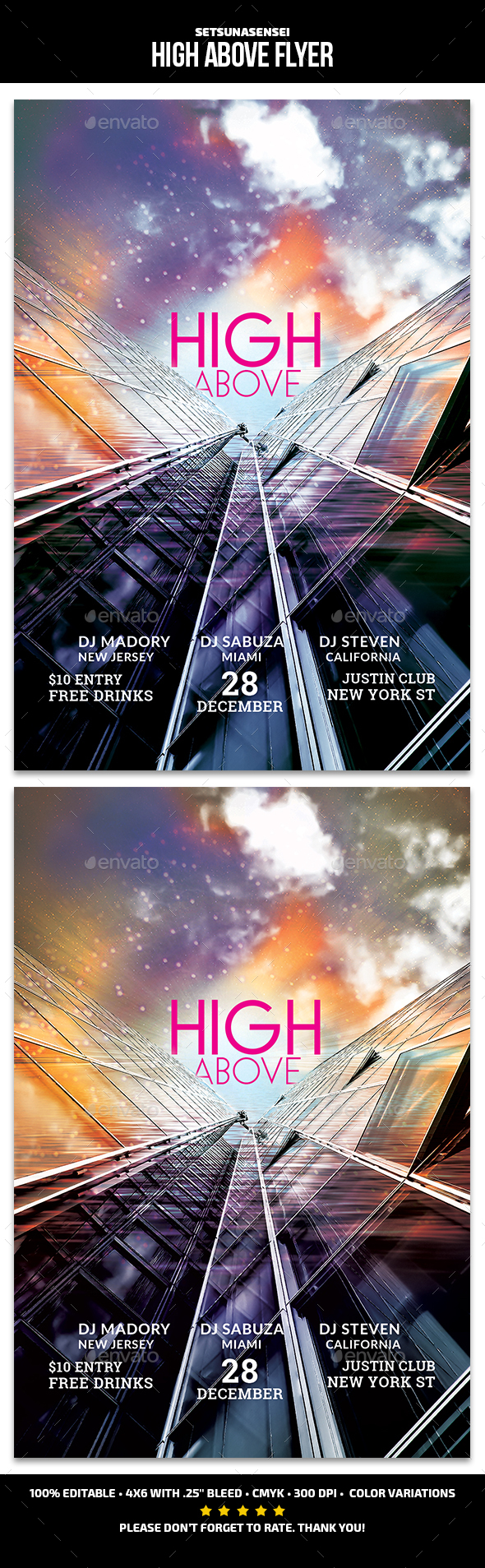 High Above Flyer - Events Flyers
