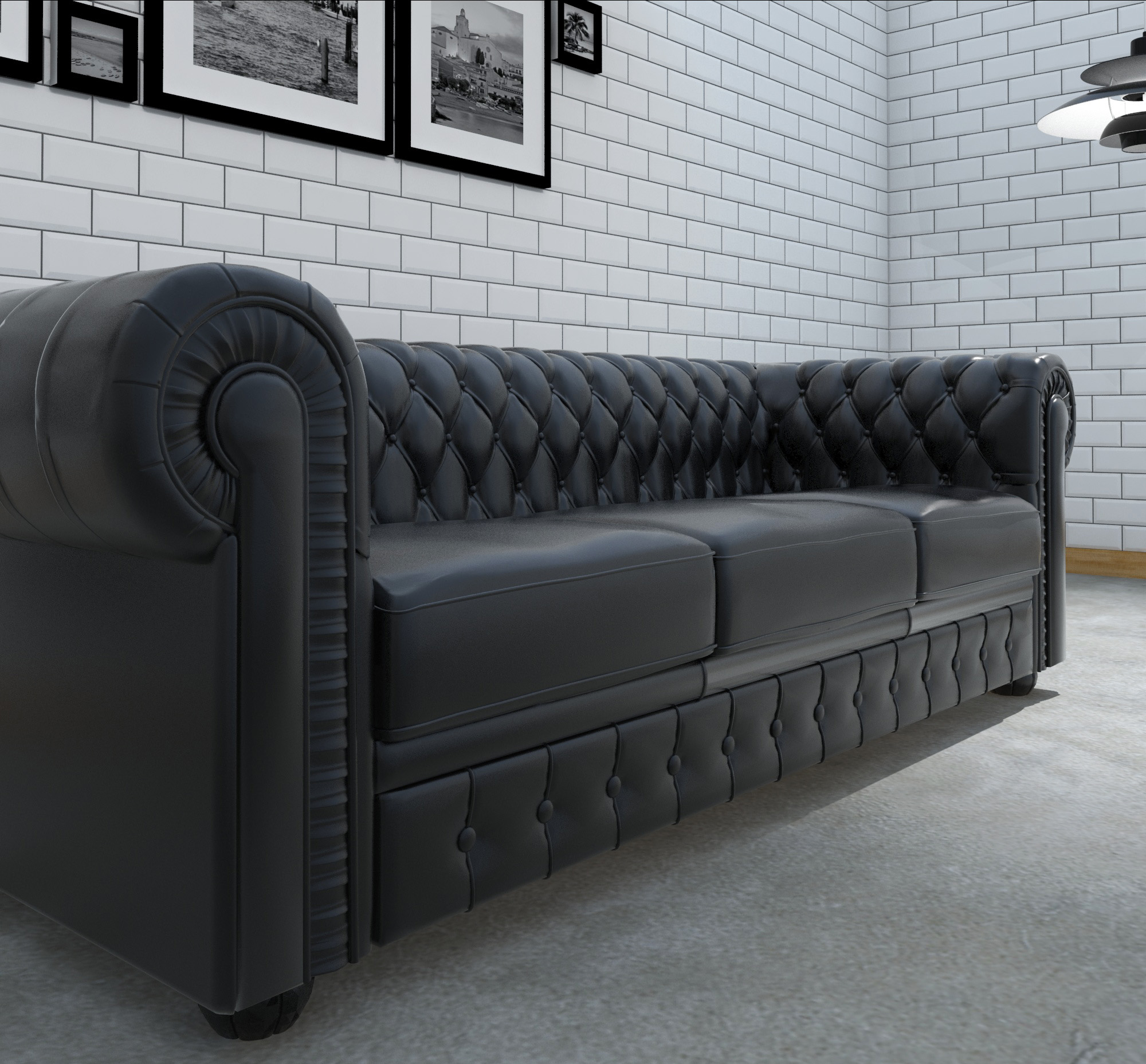 ... 03_Chesterfield Couch Black ...