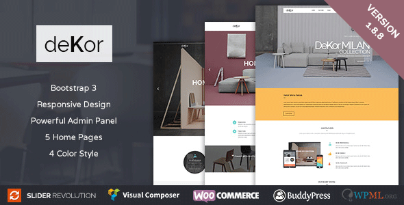 deKor - Interior WordPress Theme - Retail WordPress