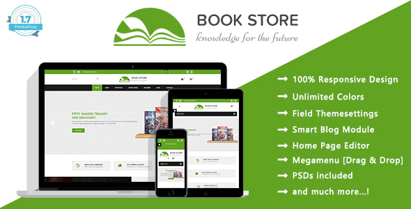 Book Store - Books Publisher Responsive Prestashop 1.7 Theme