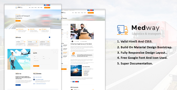 Medway | Transportation & Logistics HTML Template Best Scripts