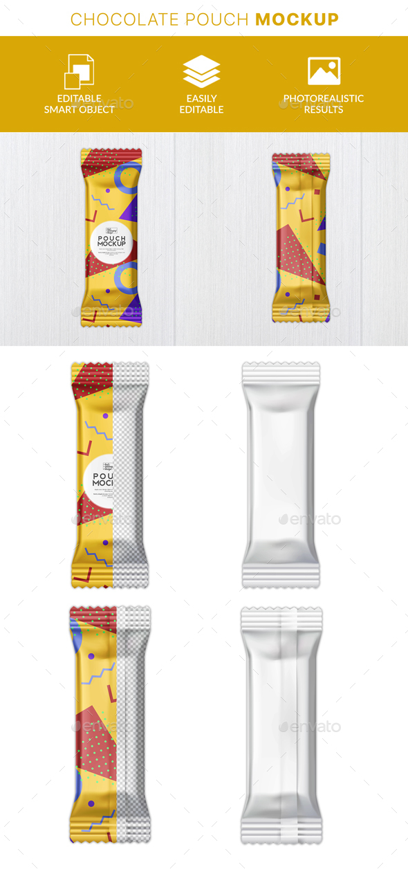 GraphicRiver Protein Bar Packaging Mockup 21142044