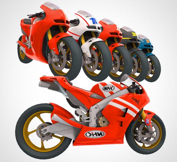 3DOcean Motorcycle Honda rc213v Moto GP 21142047