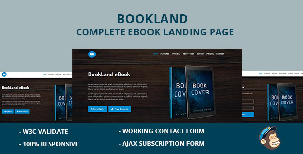 bookland complete e book landing page (landing pages) BookLand Complete E Book Landing Page (Landing Pages) preview