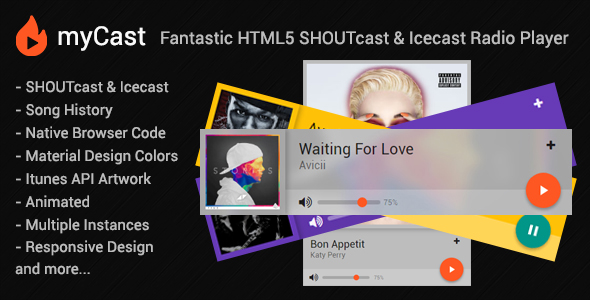 myCast - Fantastic HTML5 SHOUTcast & Icecast Radio Player - CodeCanyon Item for Sale