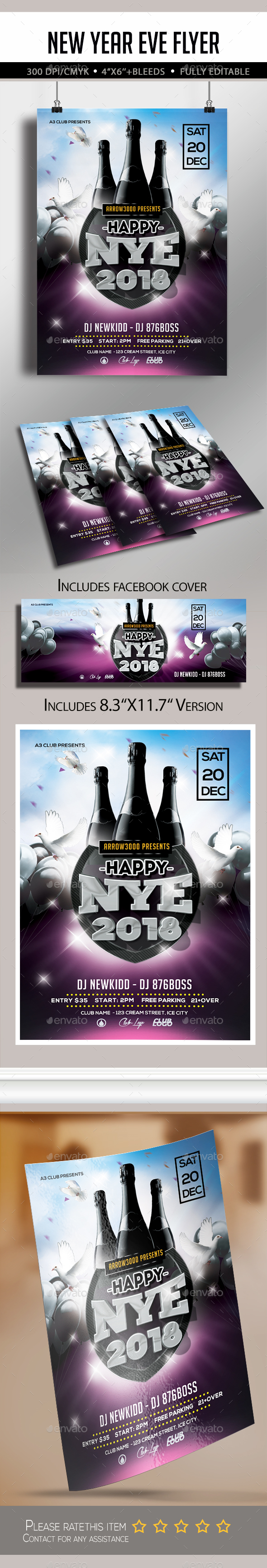 GraphicRiver New Year Eve Flyer 21142098