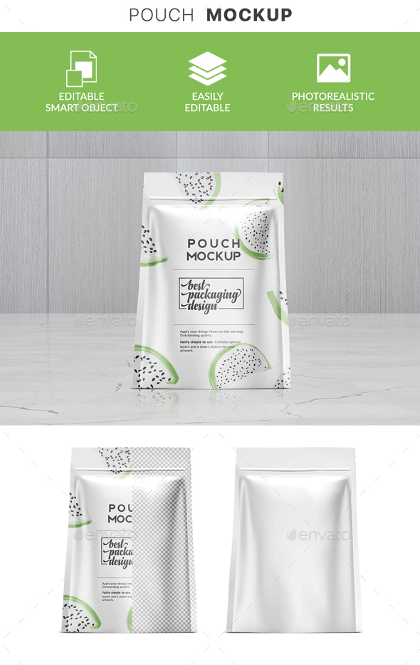 GraphicRiver Doypack Stand Up Pouch Packaging Mockup 21142163