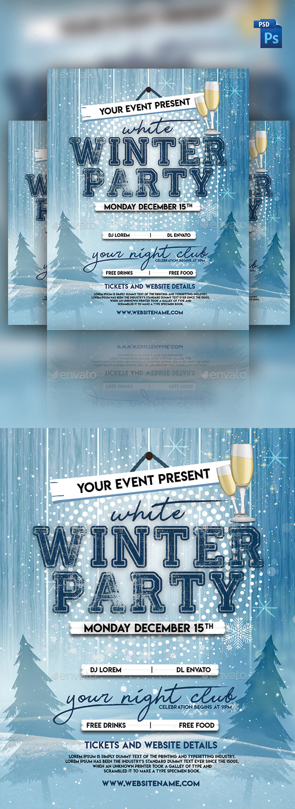 GraphicRiver Winter Festival Flyer 21142181