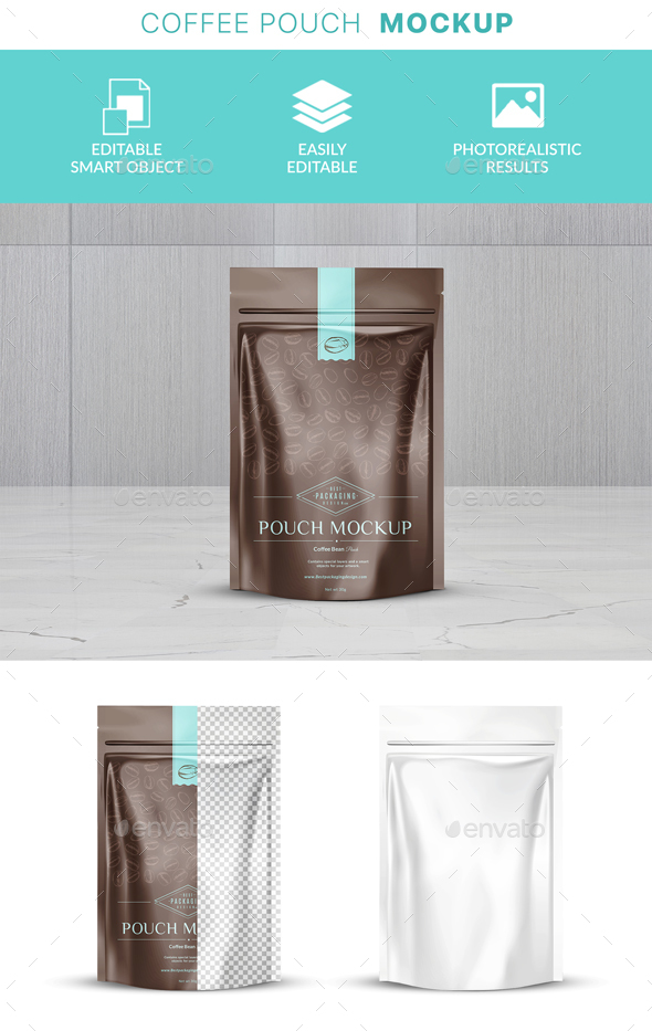 GraphicRiver Coffee Bag Packaging Mockup 21142227