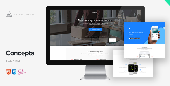 Image of Concepta - SaaS, Software, WebApp & Services Template