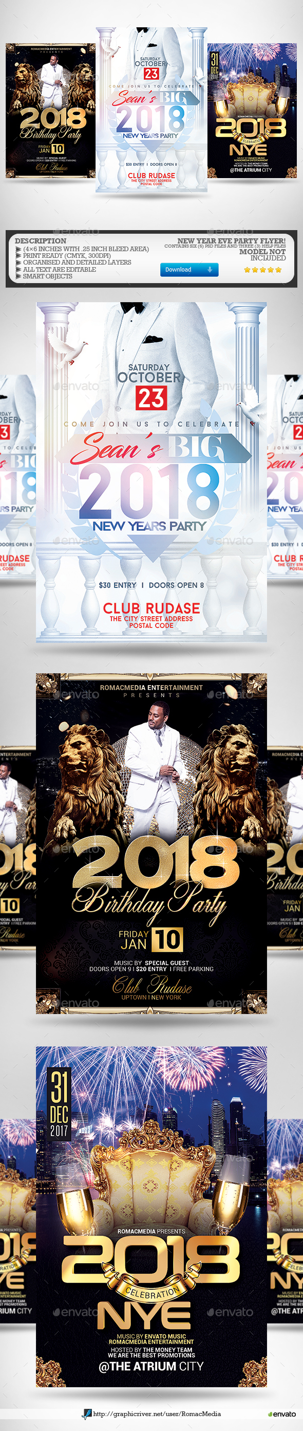 New Year Flyer Bundle 2 - Clubs & Parties Events