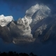 The Movement of Clouds Over the Mountain Kangtega - VideoHive Item for Sale