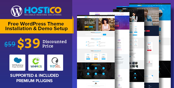 ThemeForest Hostico WordPress WHMCS Hosting Theme 20786821