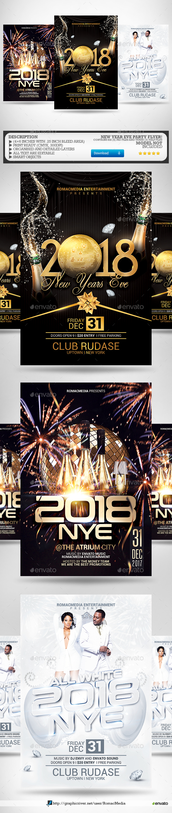 New Year Flyer Bundle 3 - Clubs & Parties Events