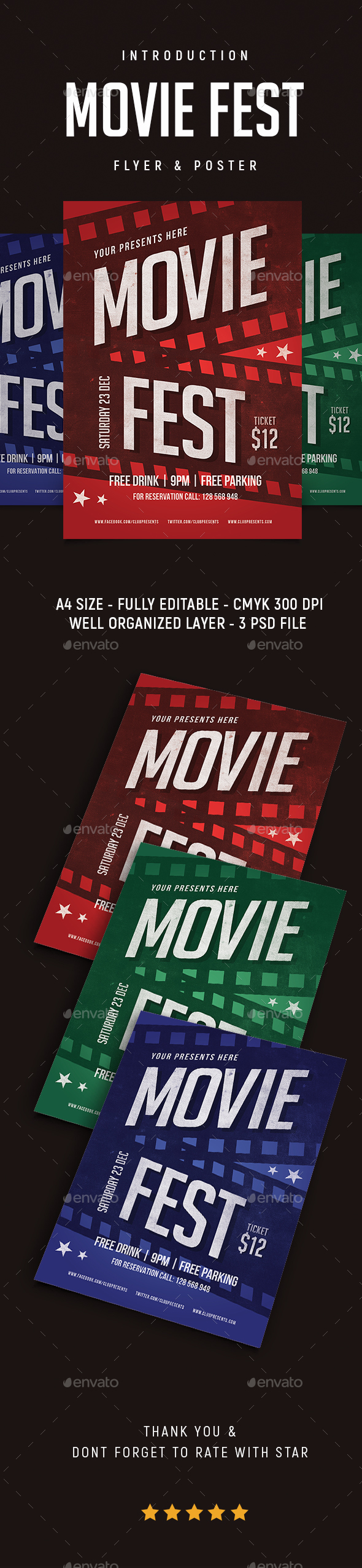 GraphicRiver Movie Fest Flyer 21142369